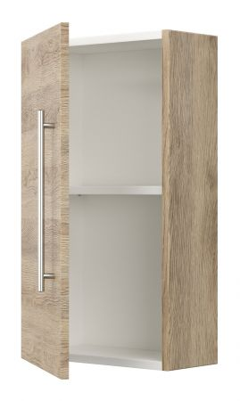 Badezimmer Hängeschrank Homeline in Sonoma Eiche hell Badschrank 35 x 62 cm Badmöbel