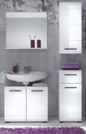 Badkombination Badezimmer Set Skin Hochglanz weiß tiefzieh 4-teilig