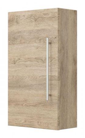 Badezimmer Hängeschrank Teramo in Sonoma Eiche hell Badschrank 35 x 62 cm Badmöbel