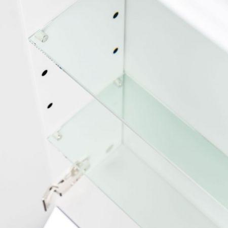 Badkombination Teramo in Hochglanz weiß Badmöbel Set 8-teilig inkl. Waschbecken und LED Beleuchtung 250 x 190 cm