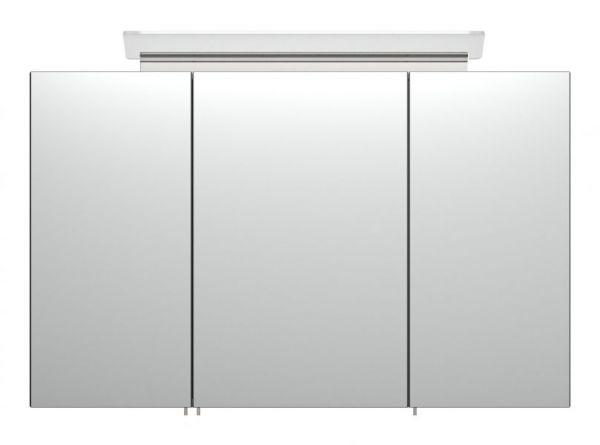 Bad Spiegelschrank Livono in anthrazit Seidenglanz inklusive Design LED Spiegellampe Badschrank 3-türig 100 x 62 cm