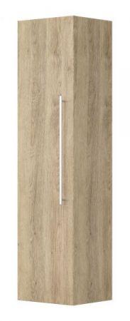 Badezimmer Hängeschrank Livono in Sonoma Eiche hell Badmöbel Hochschrank 35 x 150 cm Badschrank hängend