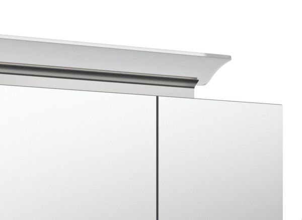 Badkombination Livono in Sonoma Eiche hell Badmöbel Set 6-tlg. inkl. Doppelwaschtisch und LED Spiegellampe 200 x 190 cm