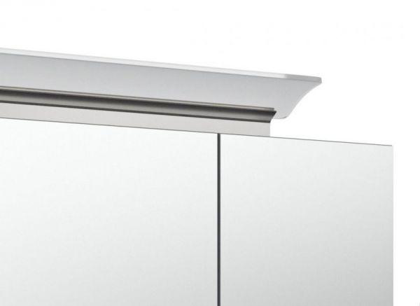 Badkombination Livono in Hochglanz weiß Badmöbel Set 8-tlg. inkl. Doppelwaschtisch und LED Spiegellampe 250 x 190 cm