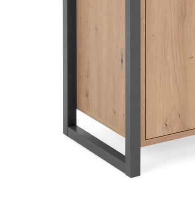 """Kommode """"Denver"""" in Artisan Eiche und Anthrazit Industrial Look 80 x 88 cm"""