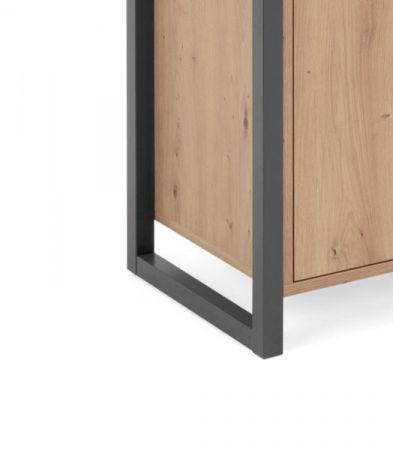 """Kommode """"Denver"""" in Artisan Eiche und Anthrazit Industrial Look 120 x 88 cm"""