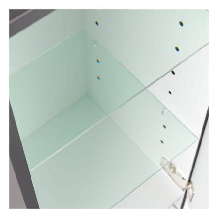 Badmöbel Set 6-tlg. Luna in anthrazit Seidenglanz Badkombination inkl. Waschbecken und LED Beleuchtung 180 x 190 cm