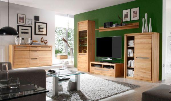 TV-Lowboard Zino in Kernbuche teil massiv geölt TV-Unterteil 123 x 43 cm Fernsehtisch