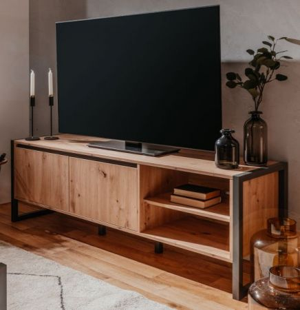 TV-Lowboard Denver in Artisan Eiche und Anthrazit 160 x 55 cm