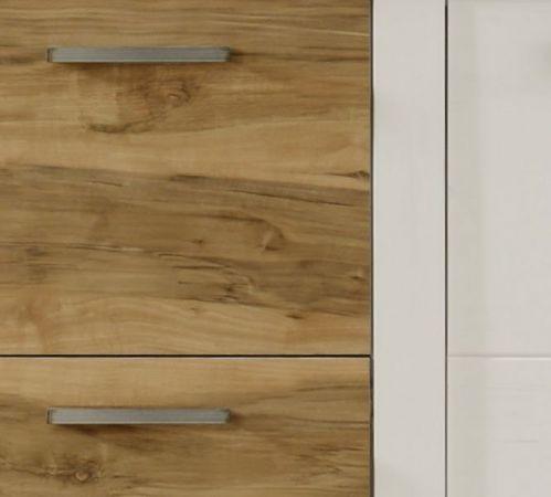 Sideboard Toronto in Anderson Pinie weiß mit Nussbaum Satin Kommode 210 x 85 cm