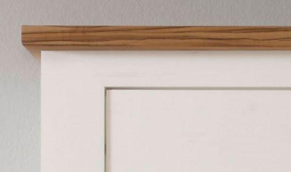 """Highboard """"Toronto"""" in Pinie weiß mit Nussbaum Satin 154 x 146 cm"""