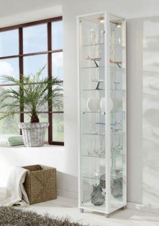 Vitrine Glasvitrine schwarz mit Spiegelrückwand und Beleuchtung