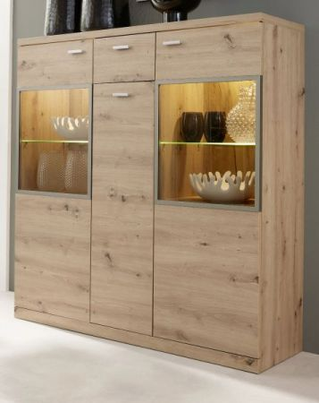 Highboard Echo in Artisan Eiche 135 x 135 cm