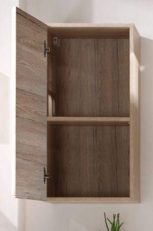 Badezimmer Hängeschrank Malea in Eiche San Remo hell Badschrank hängend 37 x 70 cm