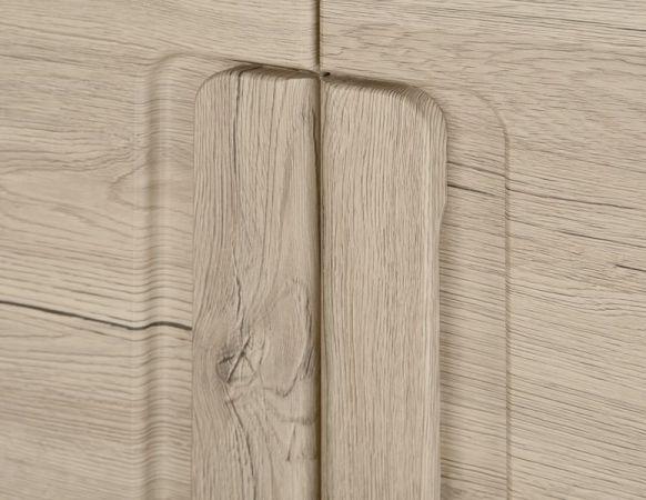 Garderobenset Flur Garderobenkombination Malea 4-teilig Eiche San Remo hell tiefgezogen 168 x 191 x 38 cm