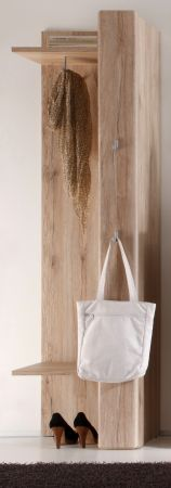 Garderobenpaneel Flurgarderobe Malea Eiche San Remo hell 50 x 191 cm