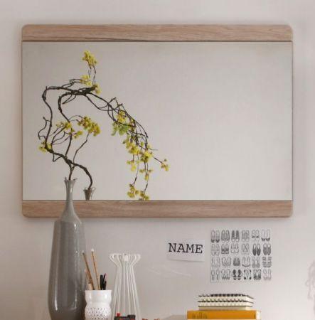 Garderobenspiegel Malea Eiche San Remo Wandspiegel 90 x 64 cm