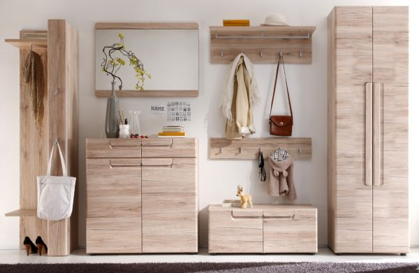 Flur Garderobe komplett Set Malea Eiche San Remo hell 7-teilig 330 cm