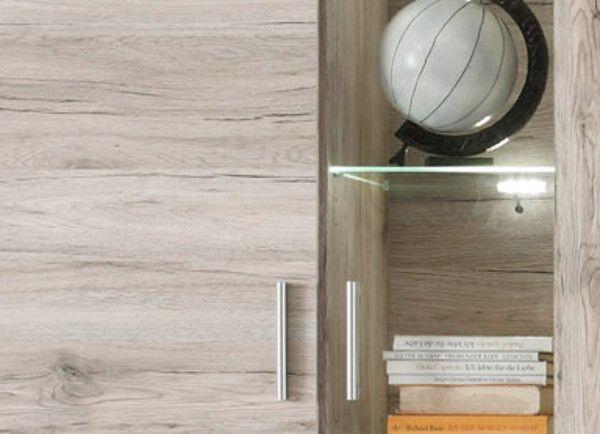 """Wohnzimmer: Wohnwand """"Fiesta"""" Sandeiche (300 x 195 cm) inkl. LED-Beleuchtung"""
