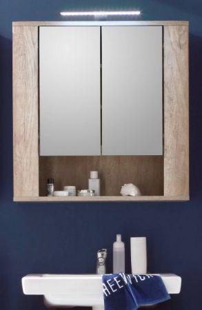 """Badezimmer: Spiegelschrank """"Star"""" Eiche (70x75 cm) mit Ablage"""