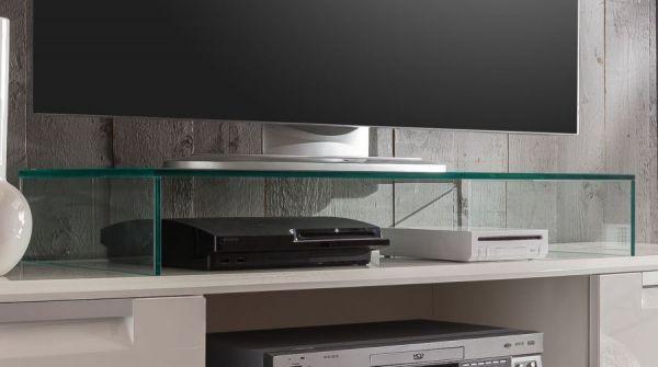 TV Glas-Podest TV-Bühne für Fernsehgeräte 87 x 13 x 38 cm