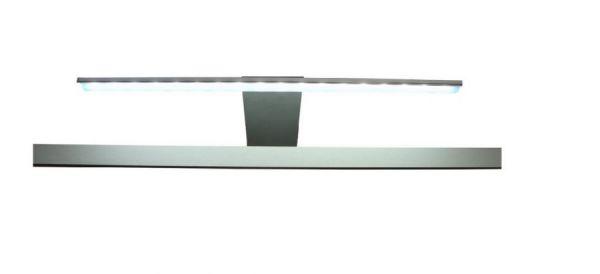 LED Spiegellampe Badlampe Gama in Aluminium mattiert für Spiegelschränke mit Steckdose im Spiegelschrank