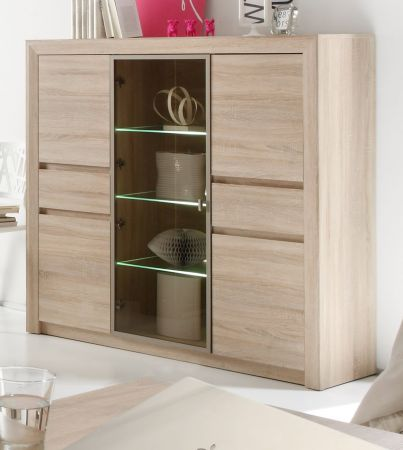 highboard sideboard eiche sonoma hell. Black Bedroom Furniture Sets. Home Design Ideas