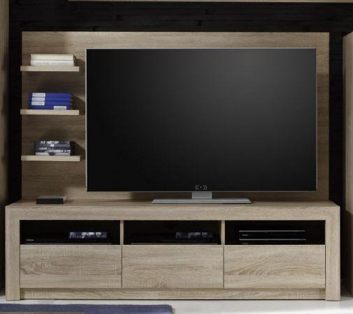 TV Unterteil Lowboard Sevilla Eiche Sonoma hell mit Schubkästen 164 x 46 cm