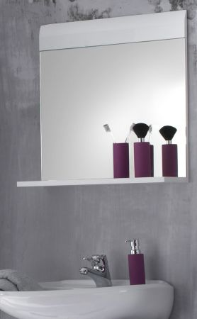 Wandspiegel Badmöbel Skin Hochglanz weiß Badspiegel