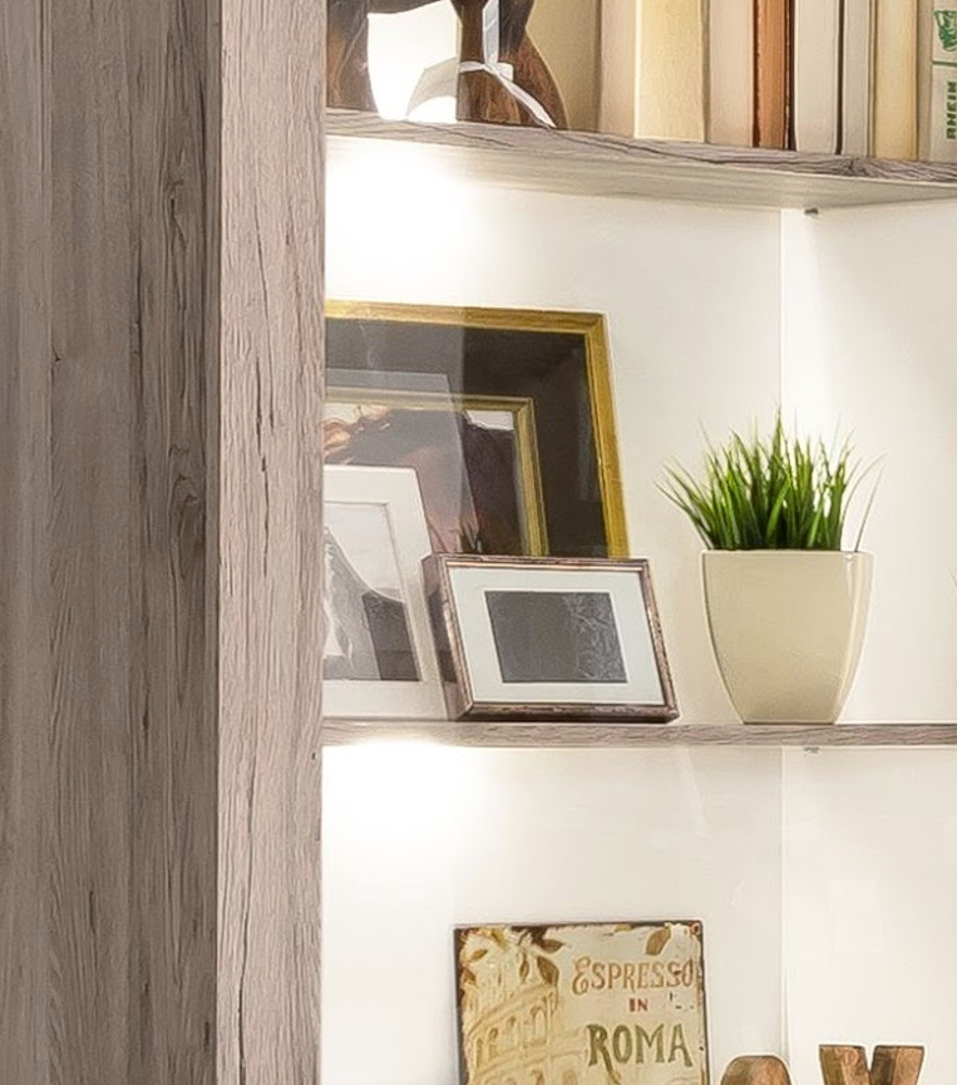 wohnwand eck anbauwand passat 9 tlg eiche sand wohnzimmer m bel schrankwand neu. Black Bedroom Furniture Sets. Home Design Ideas