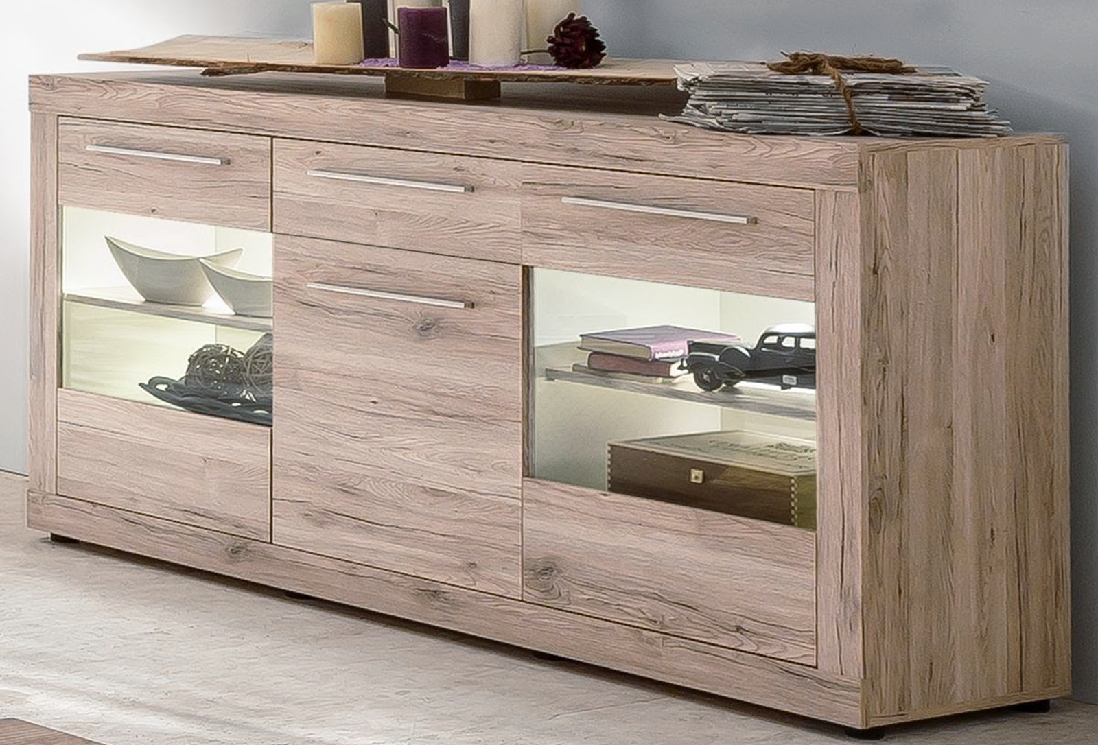 sideboard passat eiche sand g nstig online kaufen. Black Bedroom Furniture Sets. Home Design Ideas