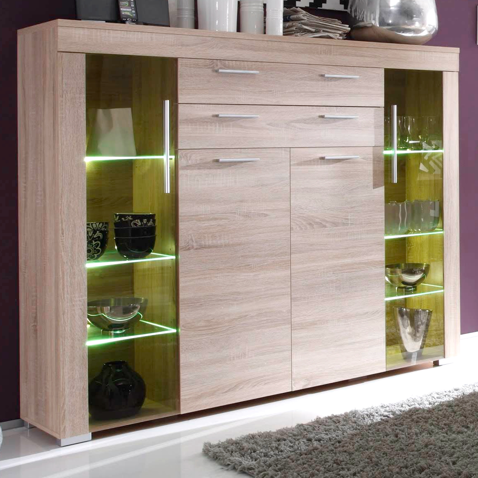 highboard kommode boom eiche s gerau hell. Black Bedroom Furniture Sets. Home Design Ideas