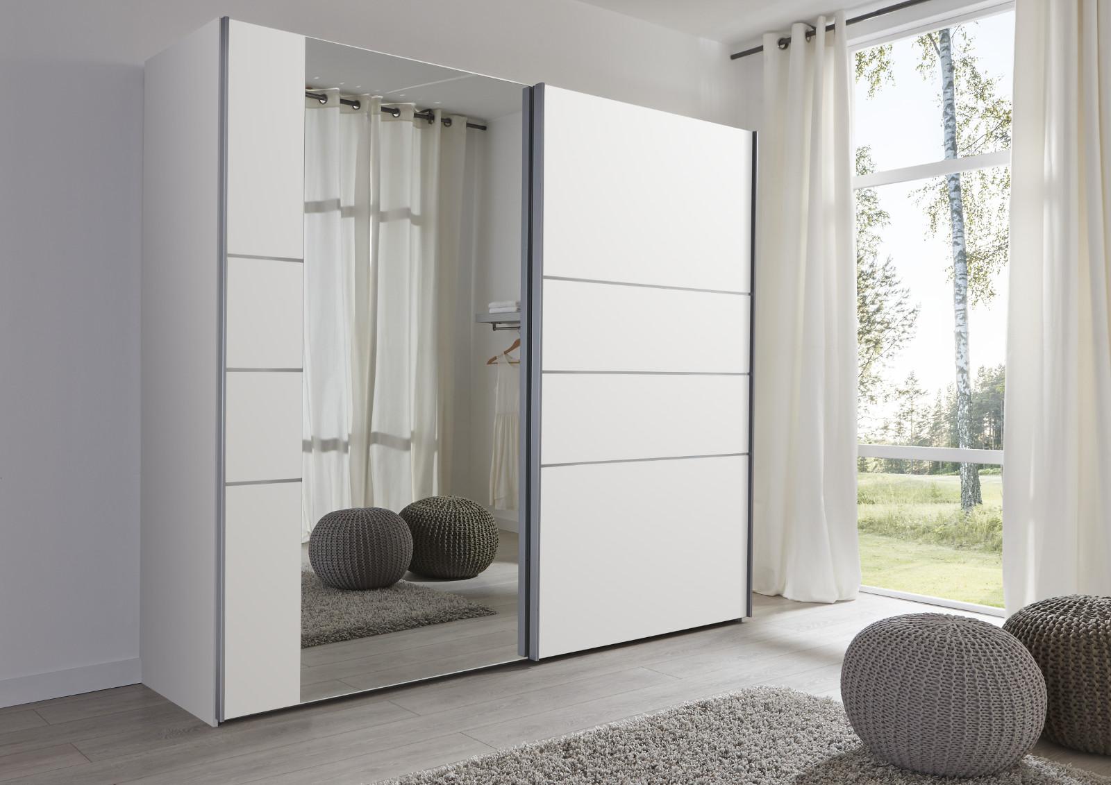 schwebet renschrank kleiderschrank wei spiegel. Black Bedroom Furniture Sets. Home Design Ideas