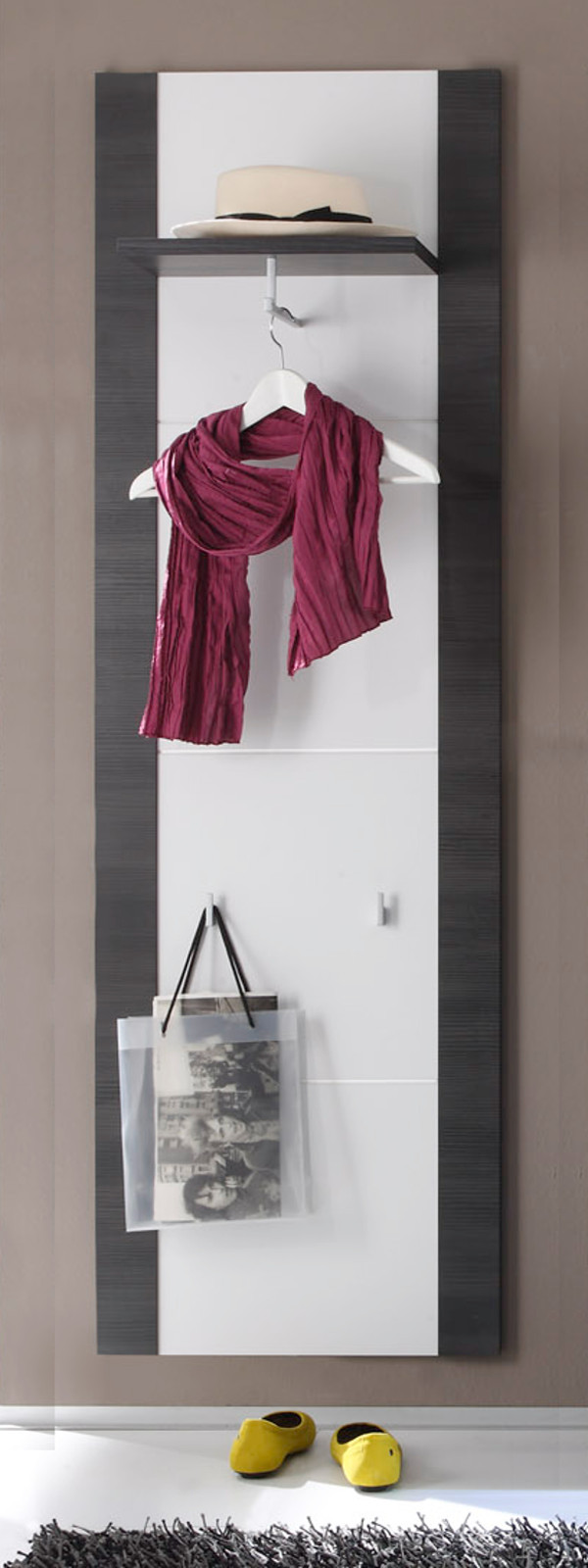 Garderobe express esche grau wei g nstig kaufen for Garderobe xpress