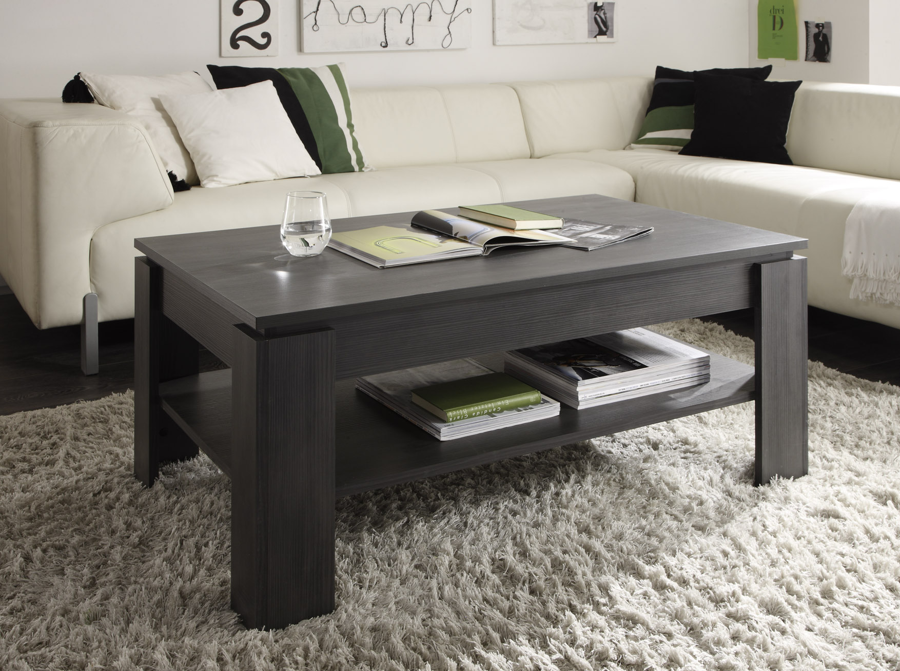 wohnkombination wohnwand esche grau wei 4teilig. Black Bedroom Furniture Sets. Home Design Ideas
