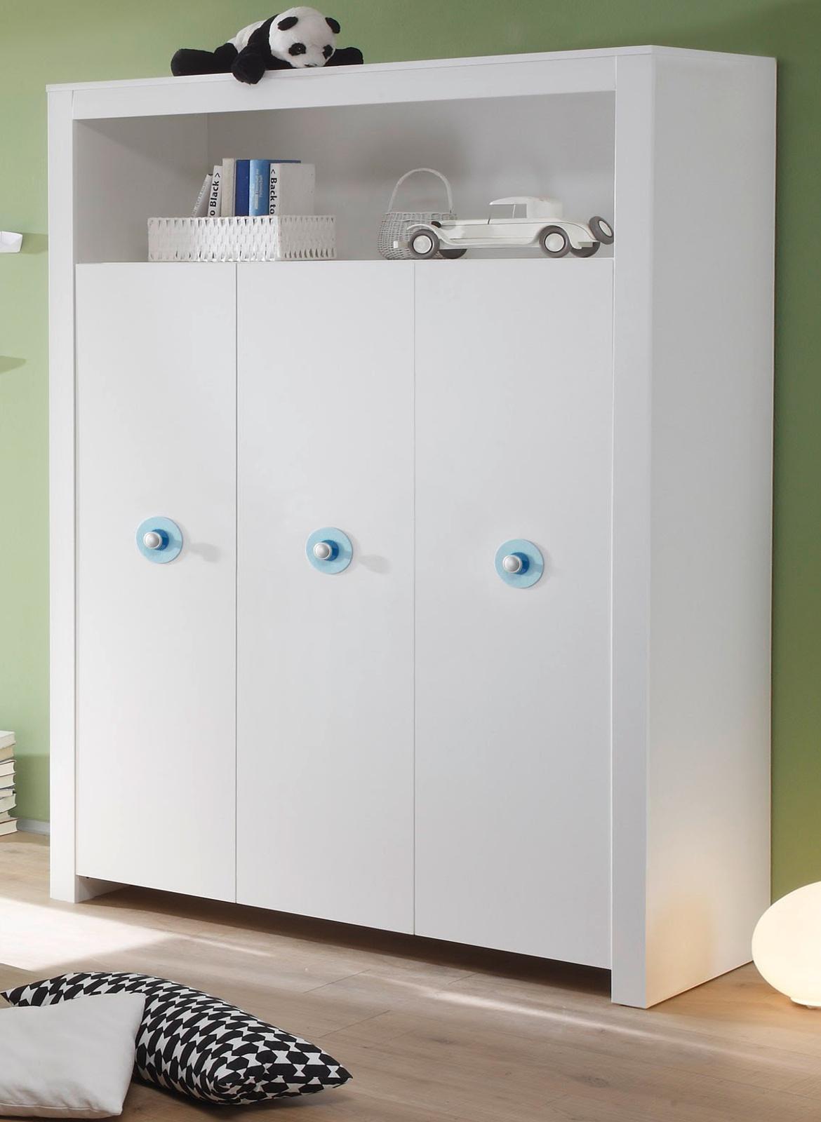 babyzimmer kleiderschrank olivia in wei mit blau. Black Bedroom Furniture Sets. Home Design Ideas