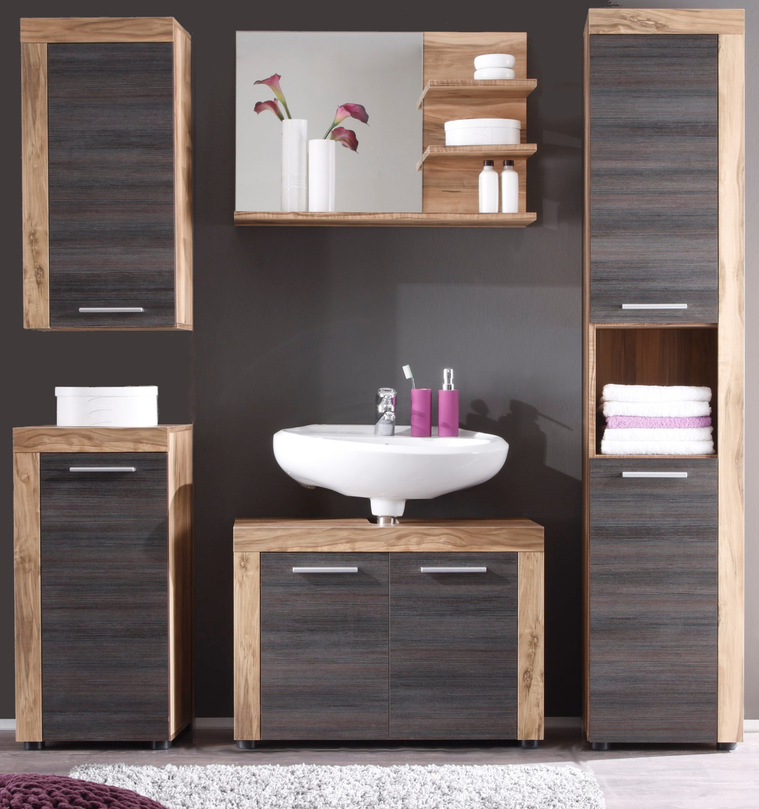 badm bel cancun nussbaum g nstig online kaufen. Black Bedroom Furniture Sets. Home Design Ideas