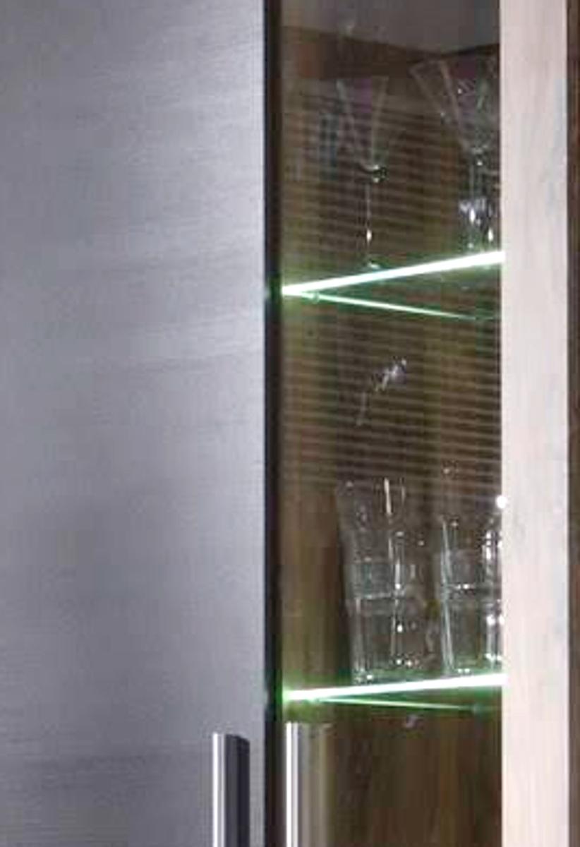 Wohnzimmer Wohnwand Boom Nussbaum Satin Touchwood Dunkelbraun 308 X 212 Cm Inkl Led Beleuchtung