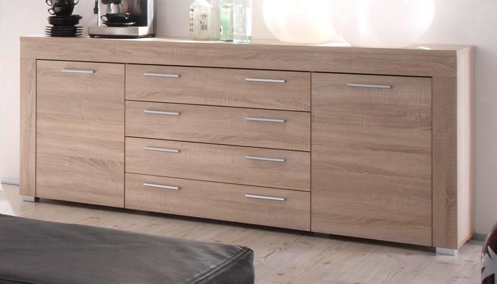 Sideboard Eiche Hell : wohnzimmer sideboard boom sonoma eiche hell ~ Watch28wear.com Haus und Dekorationen