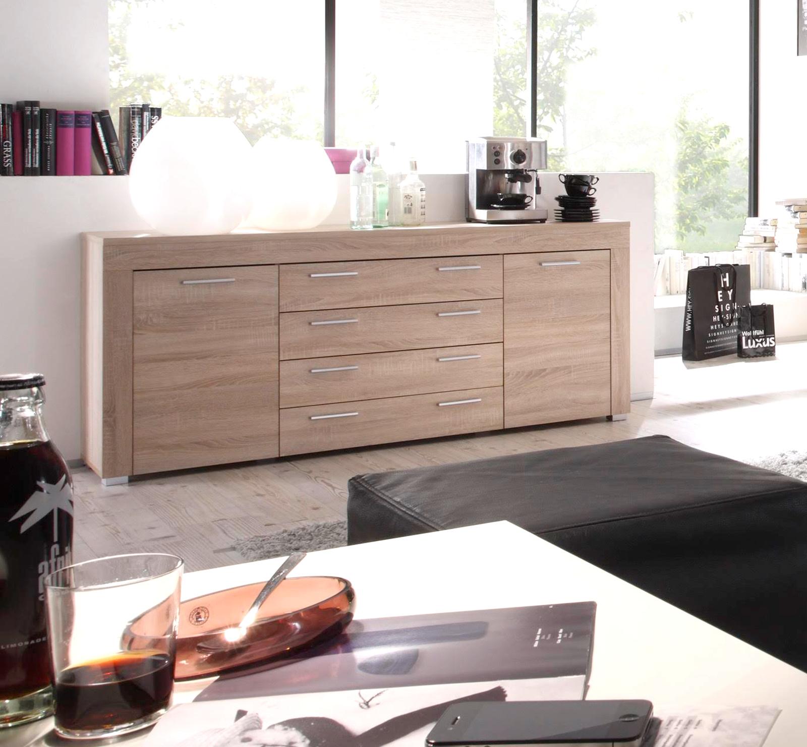 Wohnzimmer Sideboard Boom Sonoma Eiche Hell Sagerau 176 X 79 Cm