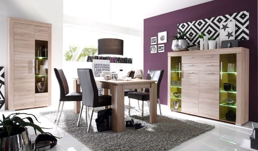 sideboard kommode anrichte boom eiche s gerau hell. Black Bedroom Furniture Sets. Home Design Ideas