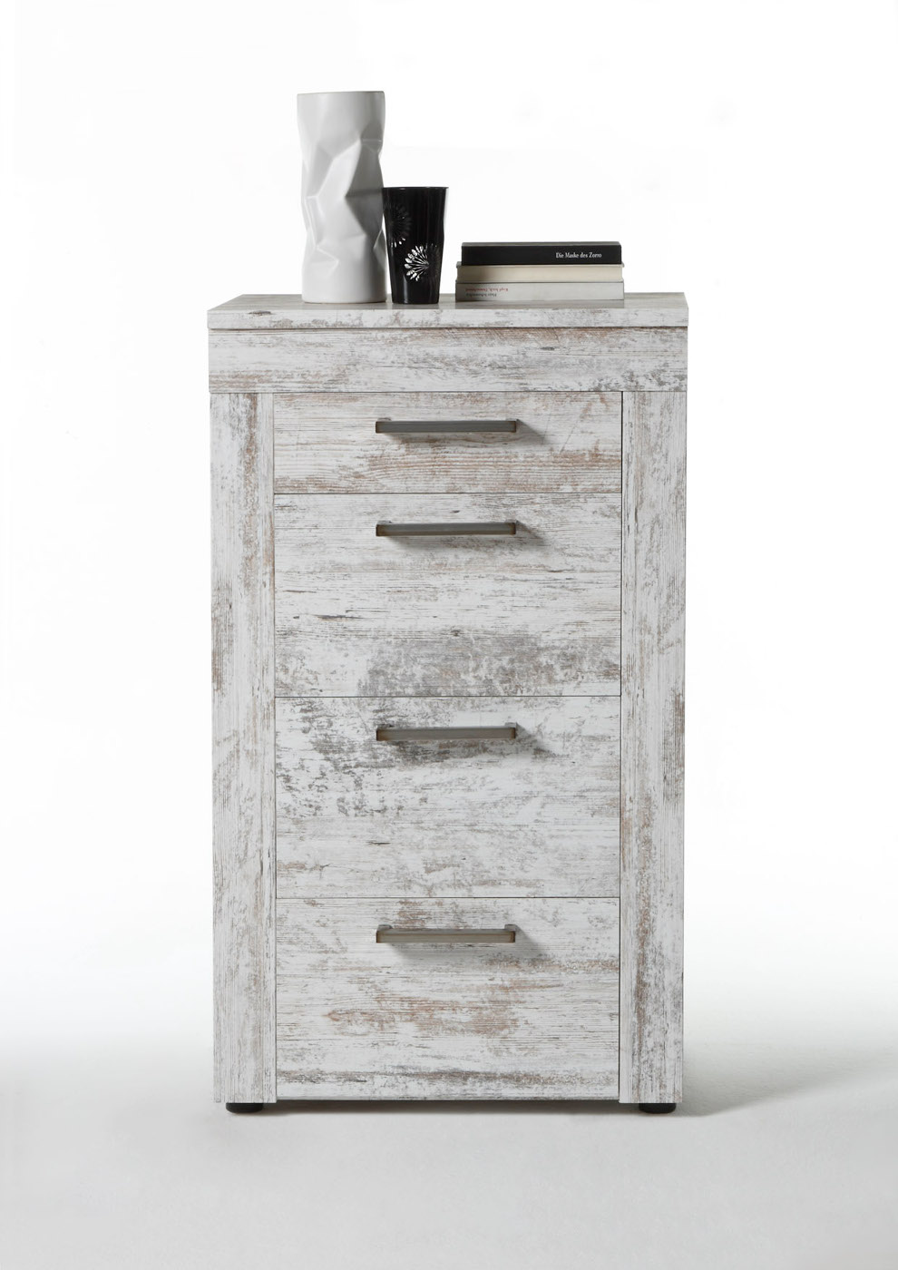 kommode canyon pine white im shabby chic look. Black Bedroom Furniture Sets. Home Design Ideas
