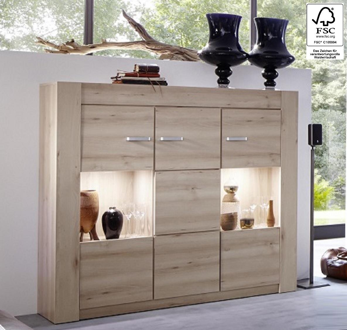 sideboard novara edel buche natur 152 x 142 cm fsc. Black Bedroom Furniture Sets. Home Design Ideas