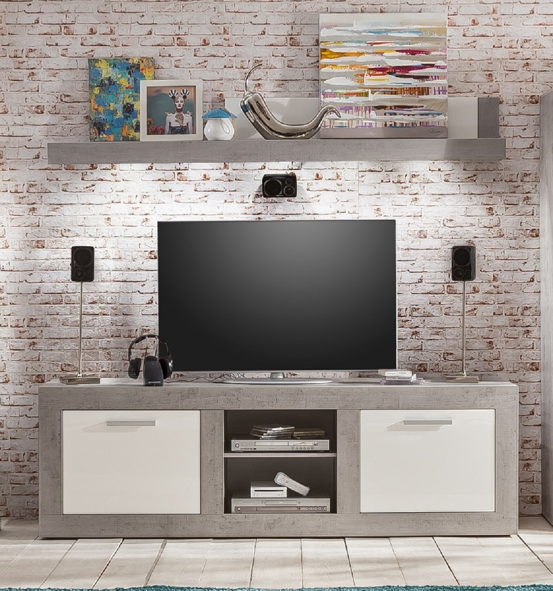 lowboard hochglanz grau affordable large size of eck tv. Black Bedroom Furniture Sets. Home Design Ideas