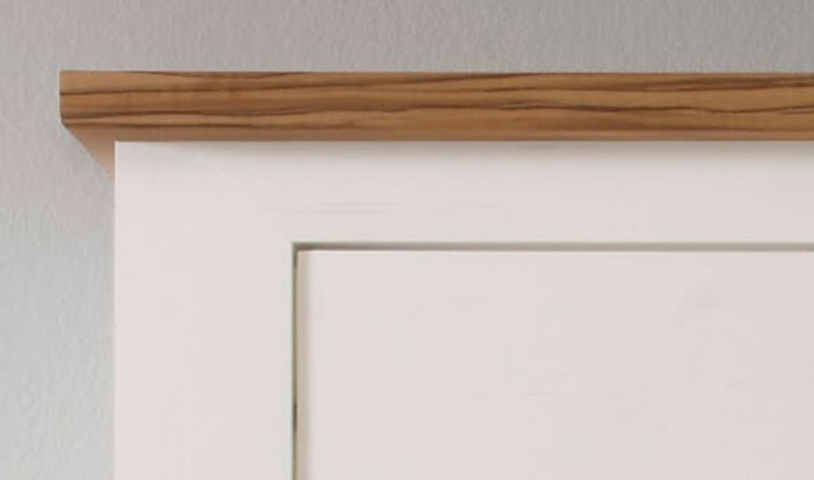 vitrine anderson pinie weiß nussbaum struktur - Küche Toronto