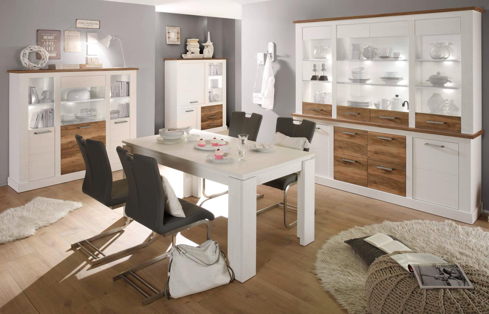 lowboard anderson pinie wei nussbaum struktur. Black Bedroom Furniture Sets. Home Design Ideas
