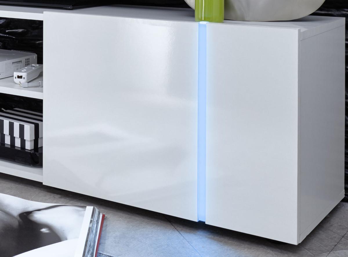 tv unterteil lowboard disco wei glanz gl nzend 160 cm. Black Bedroom Furniture Sets. Home Design Ideas