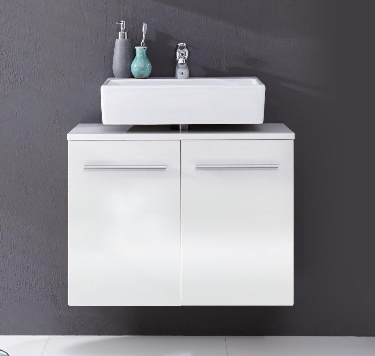 badmöbel xara weiß hochglanz günstig online kaufen ~ Waschbeckenunterschrank Hängend