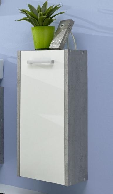 Badmöbel günstig weiß  Badmöbel Splash Weiß/Beton günstig online kaufen