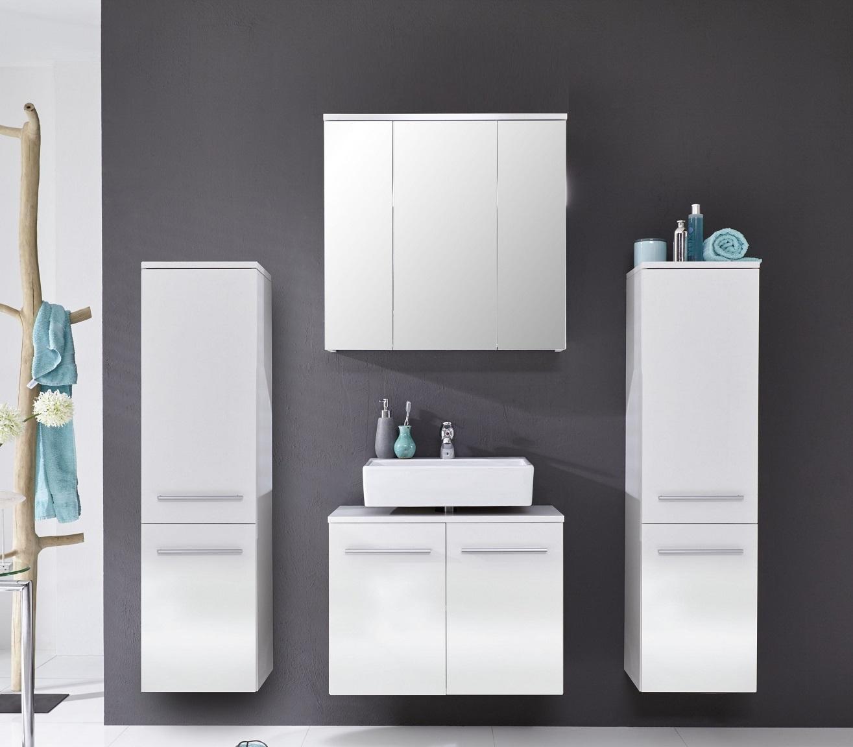 badmöbel xara weiß hochglanz günstig online kaufen, Badezimmer ideen